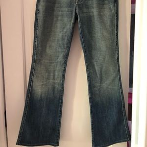 Stylish flare bottom washed out jeans!!